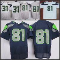Cheap 2013 Game Jerseys American Football Jerseys #81 white grey blue New Season Elite Jerseys