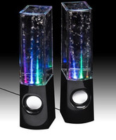 Passive 2.0 Portable Free Shipping 3.5 mm Dancing Water Speaker for Computer Phone MP3 Tablet PC 2 PCS = 1 set