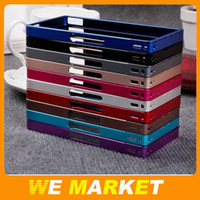 For Sony Ericsson Yes for Sony Xperia Z L36h c6603 Aluminum Metal Frame Bumper case for Sony Xperia Z L36h C6603 with retail box High Quality Free Shipping