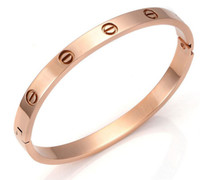 Wholesale New Arrival Love Forever Bangle Silver Rose gold Plated Bracelet for couple Freeshipping