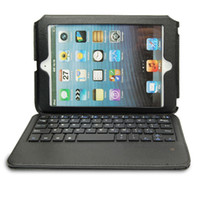 Wholesale Superthin Bluetooth Wireless Keyboard With Stand Leather Case For iPad Mini
