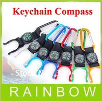 Wholesale Free FEDEX RA Durable Climb Hook Lock Keyring Keychain Carabiner Clip Hang Bukle With Drink Bottle Holder