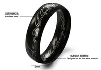 Wholesale 50 off High end men s jewelry quot Supreme Lord of the Rings quot titanium steel couple rings Pendant