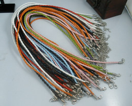 Wholesale 100 Mixed hook Leather Cord Necklace cm mm a0036