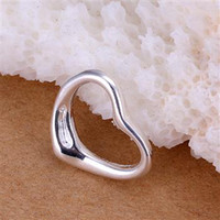 air free sterling silver - 50pcs Silver Charms Pendants Jewelry Sterling Silver Air heart Pendants CM High Quality Hot Sale