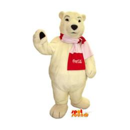 Wholesale customized polar bear mascot costume Adult Size