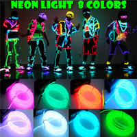 Wholesale Flexible Neon Light Colors M EL Wire Rope Tube with Controller Halloween Decoration Christmas Decoraion
