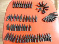 Wholesale 10 NEW Metal BROADHEADS hunting arrow point head Grain Fletching archery bhljt