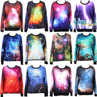 Wholesale Hot Autumn Designer Fashion Women Hoodies Clothing Fantasy Coloful Galaxy Sweatshirt Styles Drop Shipping
