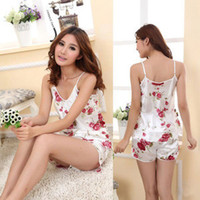 Wholesale Fashion Womens Sexy Pajamas Set Blouse Shirt Shorts Underwear Sleepwear