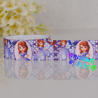 Wholesale yards quot mm Cartoon girl Sofia first Princess printed grosgrain ribbon