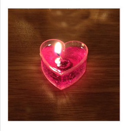 Wholesale Courtship candlelight dinner candle jelly heart shaped smoke