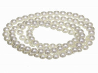 Wholesale BDB10 Antiquewhite Glass Faux Pearl Beads Loose Round Spacer mm Charms strand Fit Jewelry Necklace DIY