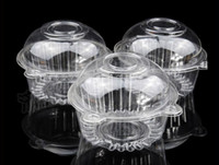 cake boxes - Clear Plastic Cupcake Cake Wedding Shower Cake Muffin Dome Boxes Holders