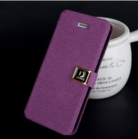 apple words - New Deluxe D Word Buckle Flip Wallet Leather Case Cover With Credit Card Holder For iphone G iphone S retail packing