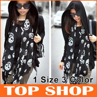 Wholesale Scarves Wraps Chiffon Skull Scarfs CM CM Printing Shawl Color SS0034