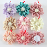 Headbands flower Lace Feather hair flower Wholesale children adult hair accessories flower Hair flower headbands flower Children headdress accessories handmade cloth flower Chiffon