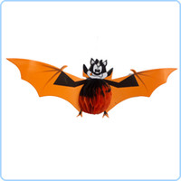 Wholesale Halloween Present Christmas Toys Decoration Props Three Funny Small Bats Pendant with Paper Wineshop Decoration Pendant
