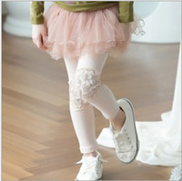 Wholesale High Quality Kids Pants Pure Cotton Patch Net Yarn Skirt Children Leggings Year Girls Skirt Pants Pink And Navy Blue QZ94