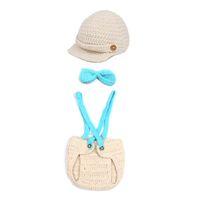 Wholesale New XDT7 Beige Baby Toddler Beanie Costume Set Newborn Photograph Props Hat Clothes Suit