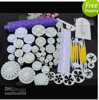 Wholesale Sets Plunger Cutter Embosser Fondant Flower Cake Decorating Sugarcraft tool Bakeware Moulds