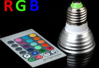 Wholesale Hot Sale W E27 RGB LED Bulb Lamp light Color changing IR Remote Energy Saving Led Colorful Light edison2011