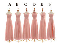 Cheap Reference Images Chiffon Bridesmaid Dress Best Pleats Sleeveless Pink Party Dress