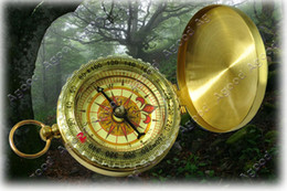 Wholesale Delicate Brass Pocket Watch Style Outdoor Camping Compass
