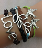South American arrow dragon - mix models tree branch bird dragon bracelets Infinity bracelets arrow charm leather bracelet jewely for man and woman
