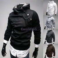 Wholesale 2014 New Fashion Mens Designer Casual Slim Fit Hoody Outerwear Hoodies Ax202