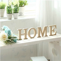 Wholesale Wooden Letter Home Decoration Free Standing Alphabet A Z Party Decor DIY Letters Name Combination Store Decor cm