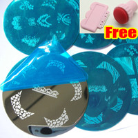 Nail Art Stamping Plate   38 Style Nail Stamping Plate + FREE Stamp & Scraper * Transfer Polish Round Image Plate Metal Print Template Kit Set NEW * High Quality !!!