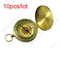 Wholesale 10pcs Delicate Brass Pocket Watch Style Outdoor Camping Compass
