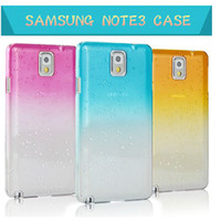 Plastic For Samsung For Christmas 3D Gradual Change water Raindrop Crystal Clear Hard Plastic Cover Case For Samsung galaxy note 3 NOTEIII N9000 N9005 transparent