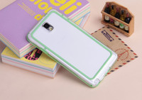 For Samsung   Soft TPU PC Bumper Frame Case Protector for Samsung Galaxy Note3 Note 3 III N9000 Mix colors