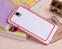For Samsung   Soft TPU PC Bumper Frame Cover Case for Samsung Galaxy Note3 Note 3 III N9000 N9005