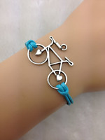 Wholesale new style statment infinity Bracelets simple Bracelet bicycle bike cycle charm fashion jewelry for sports man