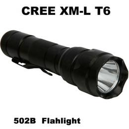 100pcs lot UltraFire New 100% UltraFire 502B 1000 Lumens CREE LED XM-L T6 Flashlight Torch Outdoor for Camping