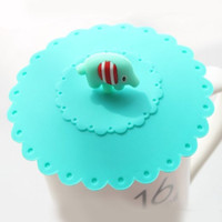 Silicone silicone cup lid - Dia cm Mint Green Elephant Lace Design Cup Cover Silicone Cup Lids Bar Decoration SH085