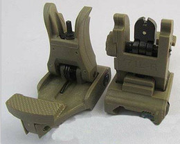 New A.R.M.S. #71L ARMS Polymer Front & Rear Flip-up Sight OD