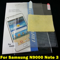 Cheap Screen Protector Film For Samsung Galaxy N9000 Note 3 Anti-glare Matte Clear Front Shield Screen Protectors Cover Case For GALAXY Note III