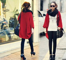 Wholesale 2013 Spring New Women Elegant Batwing Cardigan Mid Long Solid Loose Poncho Sweater cape S M L ws07