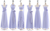 Reference Images Hand Made Flower Sleeveless Real Picture 2014 New Fashion Sexy V-Neck Greek Goddess A-Line Floor Length Lavender Chiffon Cheap Bridesmaid Dresses Party Evening Dress