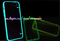 Wholesale Glow in Dark Luminous Hybrid Hard Clear transparent Crystal Plastic Soft TPU Gel cover case cases For Iphone G S C S