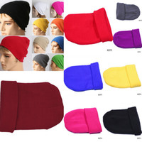 Wholesale Brand New HZF Unisex Winter Caps Fashion Knitted Warmer Comfortable Bouncy Hats Cloches Eight Colors For Choose