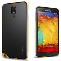 Silicone For Samsung For Christmas Newest Neo Hybrid Series Spigen SGP Slim Bumblebee TPU+PC Frame Bumper Cover Case For Ssmsung Galaxy Note3 NOTE 2 3 N9000 S4 S3 free DHL