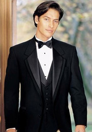 Wholesale New Design Custom made Black Groom Tuxedos Best man Suit Wedding Groomsman Men Suits KMN
