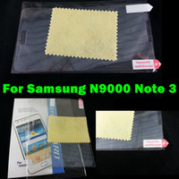 For Samsung Front  Screen Protector Film For Samsung Galaxy N9000 Note 3 Anti-glare Matte Clear Front Shield Screen Protectors Cover Case For GALAXY Note III