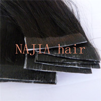 Wholesale 18 quot B natural black g no fade no shedding brazilian Remy Human PU Tape Hair Glue Skin Weft Hair Extensions