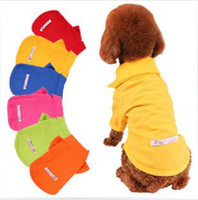 Wholesale Dog Apparel dog supplies Dogs Polo t shirt pet dog t shirt Teddy dog pets clothes